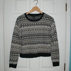 F21 pattern sweater